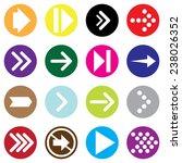 arrow icon set. vector. | Shutterstock .eps vector #238026352