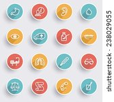 medicine icons with color... | Shutterstock .eps vector #238029055