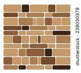 brick texture isolate on white... | Shutterstock .eps vector #238030378