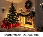 3d Rendering New Year Interior...