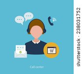 call center operator with... | Shutterstock .eps vector #238031752
