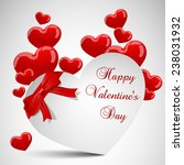 valentines card with red... | Shutterstock .eps vector #238031932