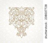 vector floral pattern in... | Shutterstock .eps vector #238037728