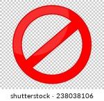 not allowed sign | Shutterstock .eps vector #238038106