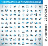 100 database server and... | Shutterstock .eps vector #238043626