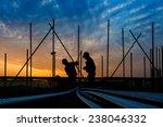 construction worker on... | Shutterstock . vector #238046332
