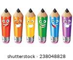 pencil face expression cartoon... | Shutterstock . vector #238048828