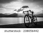 Road Bike On Waterfront Black...