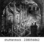 slums of london  engraving by... | Shutterstock . vector #238056862
