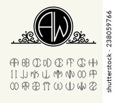 set  template letters to create ... | Shutterstock .eps vector #238059766