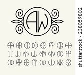 set  template letters to create ... | Shutterstock .eps vector #238059802