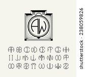 beautiful monogram art nouveau... | Shutterstock .eps vector #238059826