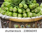 Baby Pak Choy (Chinese Cabbage) at a market in China - stock photo