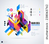 abstract infographics layout... | Shutterstock .eps vector #238063762