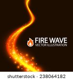 Shining Fire Wave. Vector...