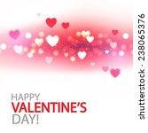 shining bokeh heart valentine's ... | Shutterstock .eps vector #238065376