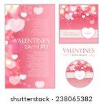 shining bokeh heart valentine's ... | Shutterstock .eps vector #238065382