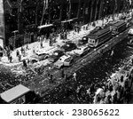 crowds on the corner of 42nd... | Shutterstock . vector #238065622