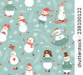 new year's seamless background  | Shutterstock .eps vector #238100122