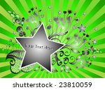 floral background with stars | Shutterstock .eps vector #23810059