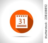orange icon of calendar | Shutterstock .eps vector #238108852