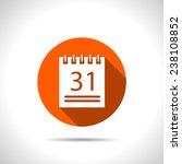 orange icon of calendar | Shutterstock .eps vector #238108852