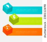 3d cube infographics. vector...