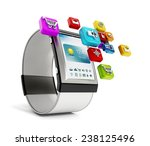 generic smart watch isolated on ... | Shutterstock . vector #238125496