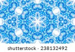 blue floral seamless pattern in ... | Shutterstock . vector #238132492