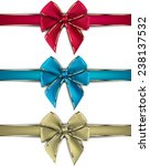 realistic gift bows on white... | Shutterstock .eps vector #238137532