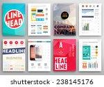set of flyer  brochure design... | Shutterstock .eps vector #238145176
