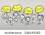 hello in different languages | Shutterstock . vector #238145182