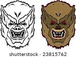 wolf man   Shutterstock .eps vector #23815762