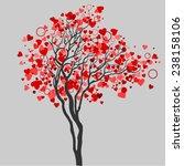 valentines tree. vector tree... | Shutterstock .eps vector #238158106