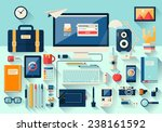 modern creative office... | Shutterstock .eps vector #238161592