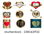 gold love label  valentine... | Shutterstock .eps vector #238163932