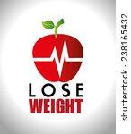 fitness design over white... | Shutterstock .eps vector #238165432