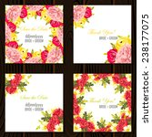 wedding invitation cards with... | Shutterstock .eps vector #238177075