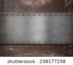 metal plate with rivets over... | Shutterstock . vector #238177258