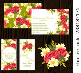 wedding invitation cards with... | Shutterstock .eps vector #238182175