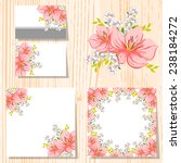 abstract flower background with ... | Shutterstock . vector #238184272