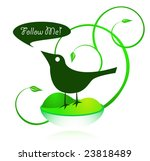 green bird   follow me | Shutterstock .eps vector #23818489
