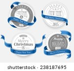 christmas emblem with... | Shutterstock .eps vector #238187695