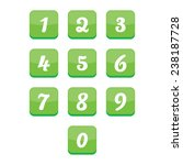glossy number buttons