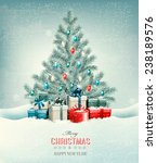 christmas tree with presents... | Shutterstock .eps vector #238189576
