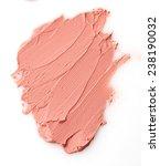 Nude Color Lipstick Stroke On...
