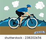 graphic design vector of biker... | Shutterstock .eps vector #238202656