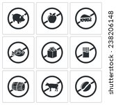 Prohibiting Signs Icons Set...