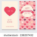 greeting cards for valentine's... | Shutterstock .eps vector #238207432
