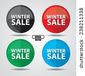 winter sale icon design on... | Shutterstock .eps vector #238211338